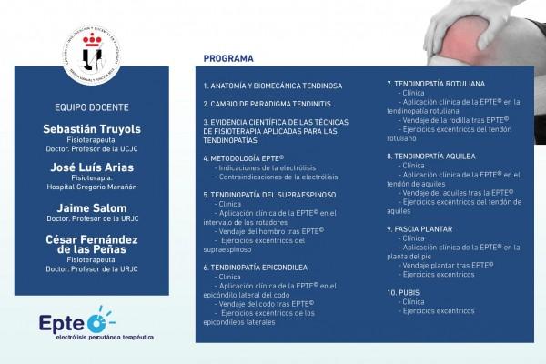 Triptico Curso EPTE, Programa y Equipo Docente