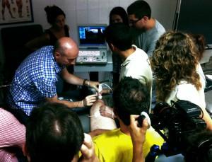 Tratamiento de tendinitis rotuliana durante curso de formación EPTE®