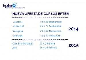 Nueva oferta de cursos EPTE para el otoño invierno de 2014-2015