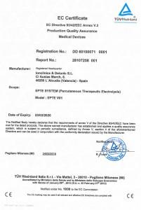 Electrólisis percutánea con CE sanitario