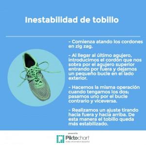 Infografia sobre como ponerse los cordones si se padece inestabilidad de tobillo