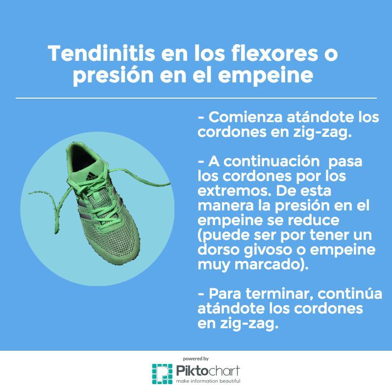 Ponerse los cordones para evitar tendinitis en los flexores