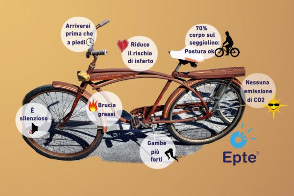 i vantaggi di andare in bicicletta