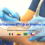 Certificaciones EPTE electrolisis percutánea América Latina