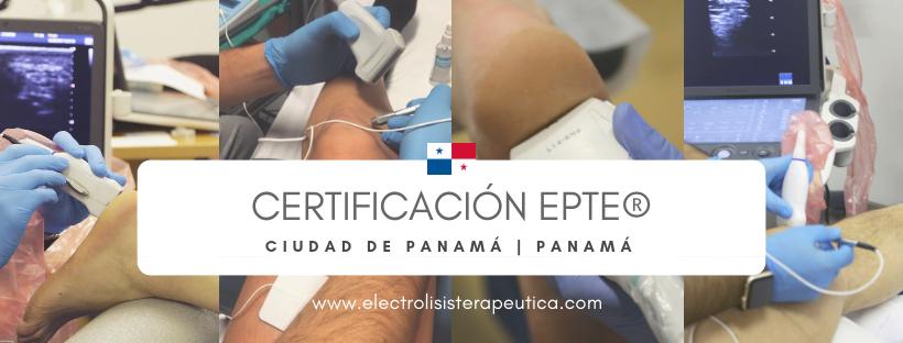 Certificaciones electrolisis percutánea Panamá