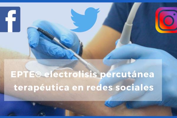 electrolisis percutánea en redes sociales
