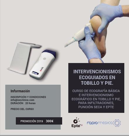 PROGRAMA INTERVENCIONISMO ECOGUIADO TOBILLO Y PIE