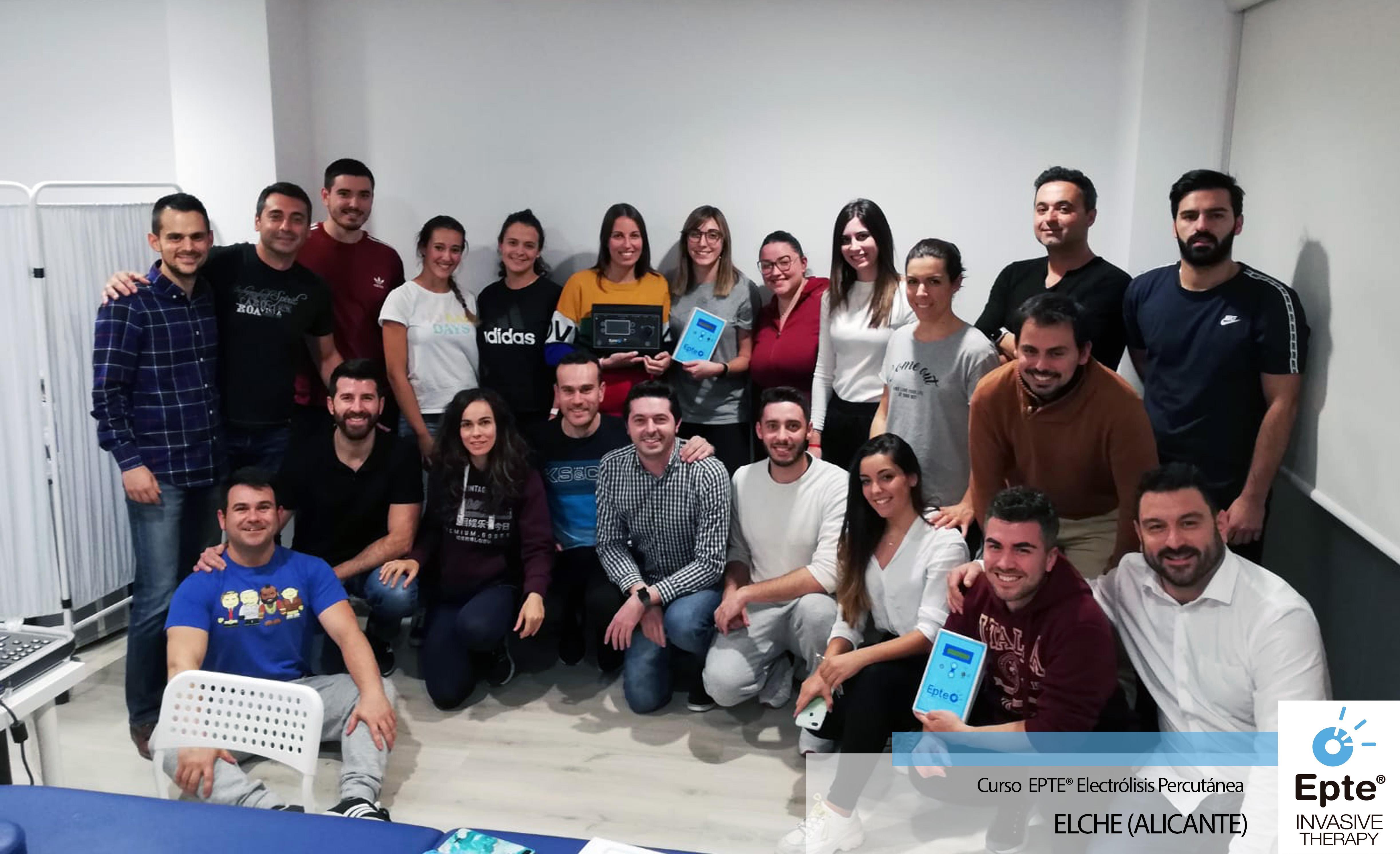 Formación en Fisioterapia Curso EPTE electrolisis percutánea + ecografía en Elche, Alicante